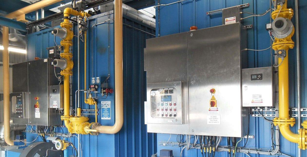 Eastham Refinery boiler